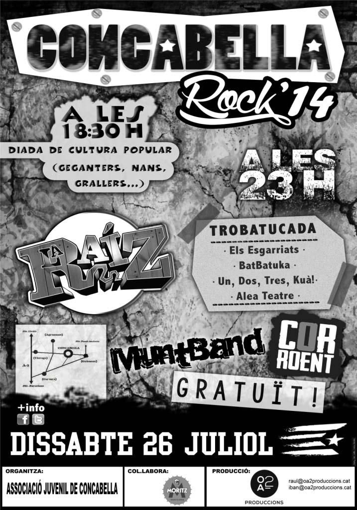 cartell Concabella Rock 2014