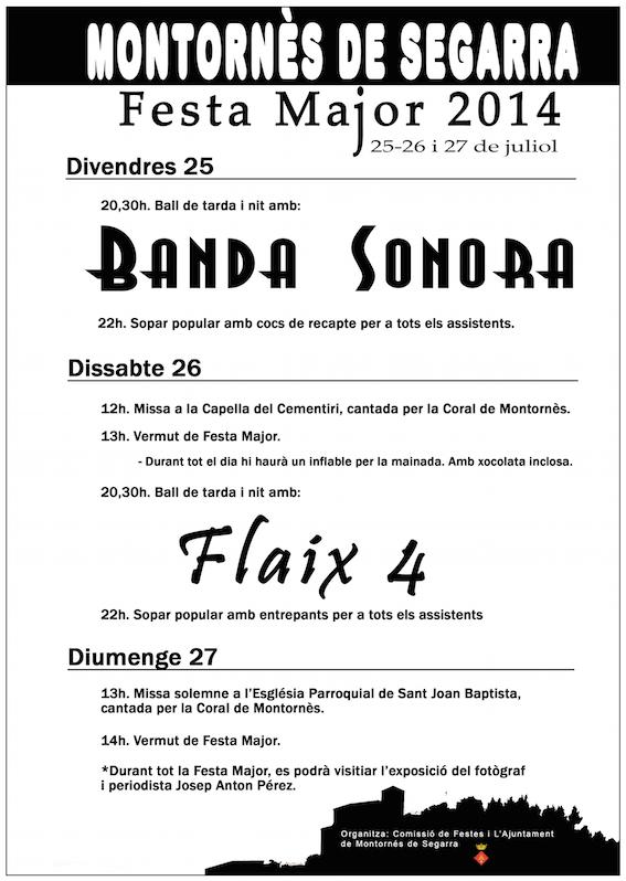 cartell Festa major Montornès 2014