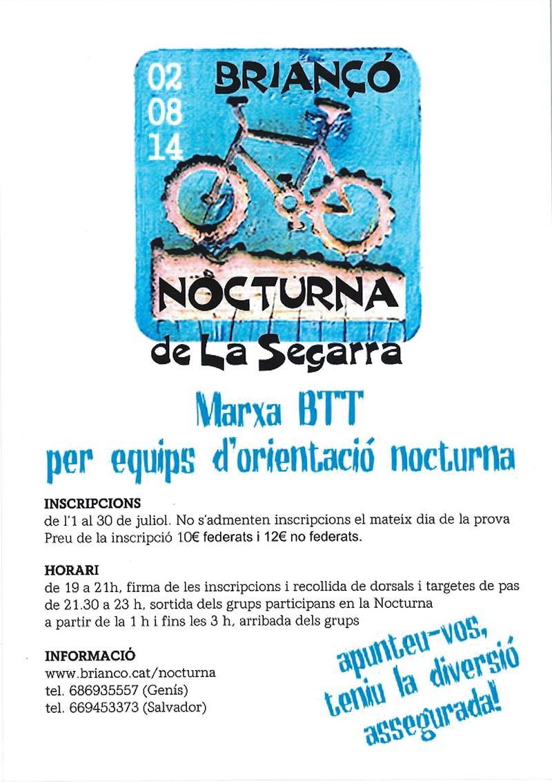 cartell Nocturna de la Segarra BTT