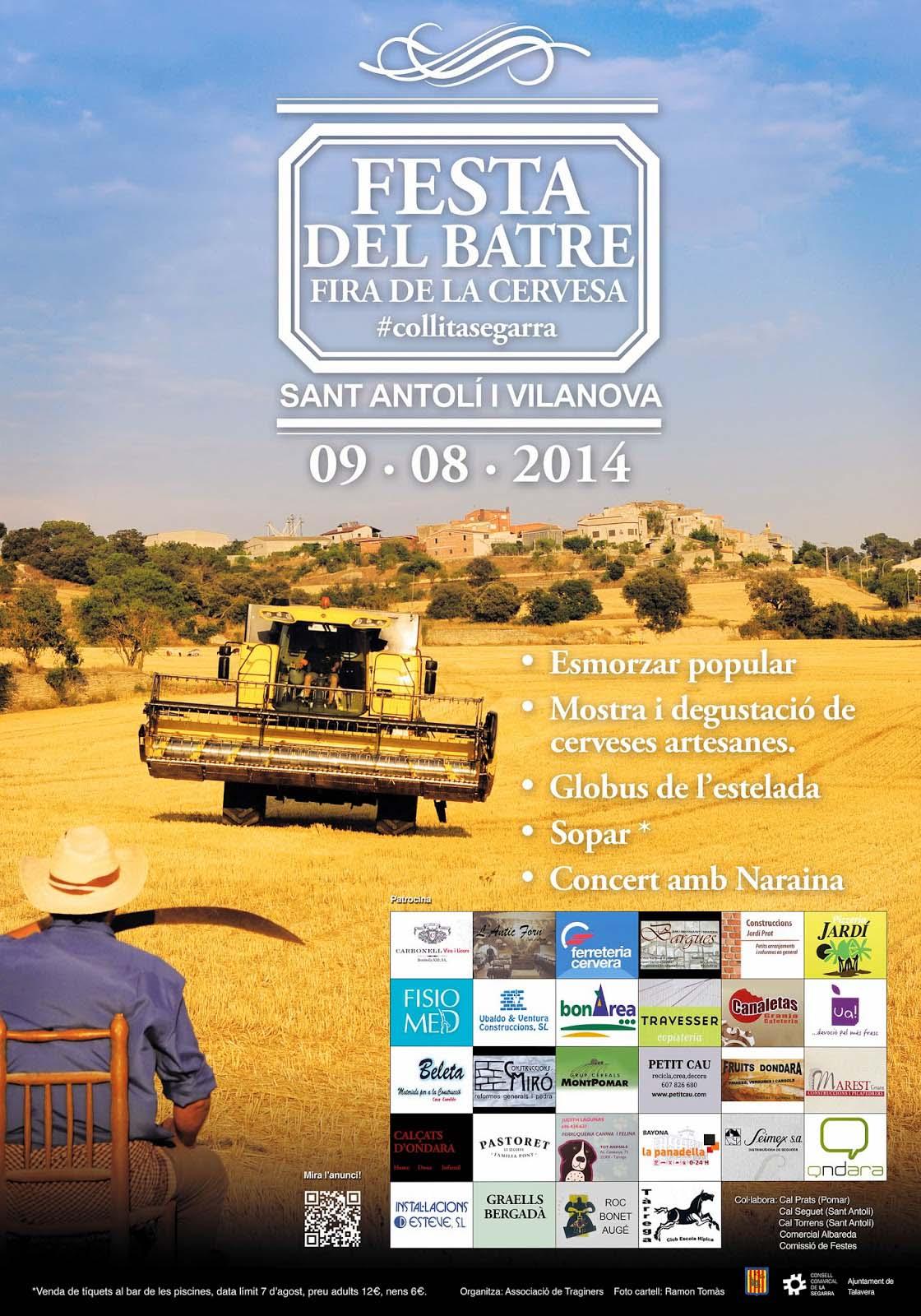 cartell 10a Festa del batre a la Vall d'Ondara