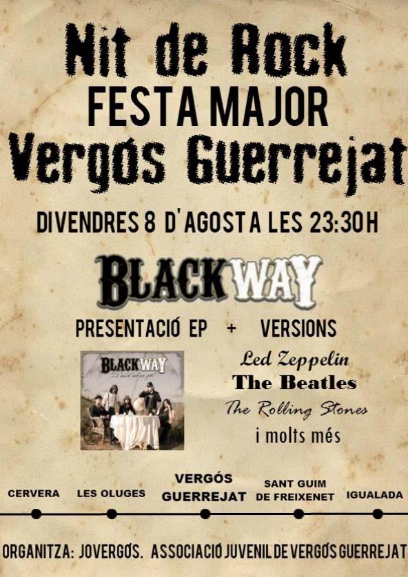 cartell Festa major Vergós Guerrejat 2014