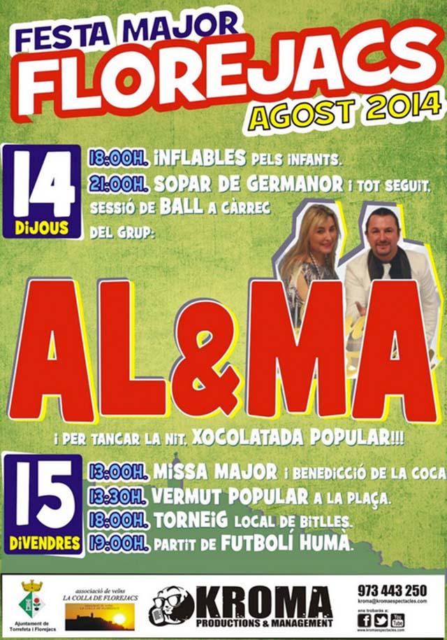 cartell Festa Major Florejacs 2014