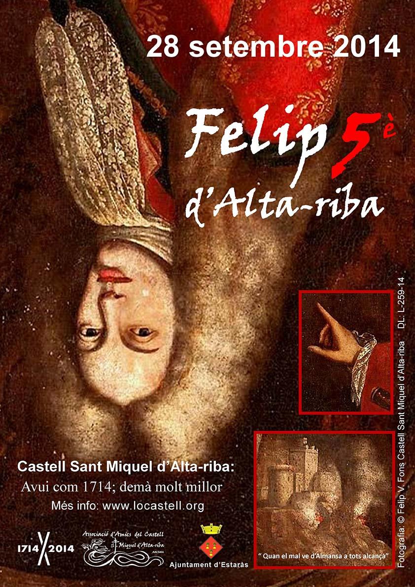 cartell Visita guiada al castell d'Alta-riba
