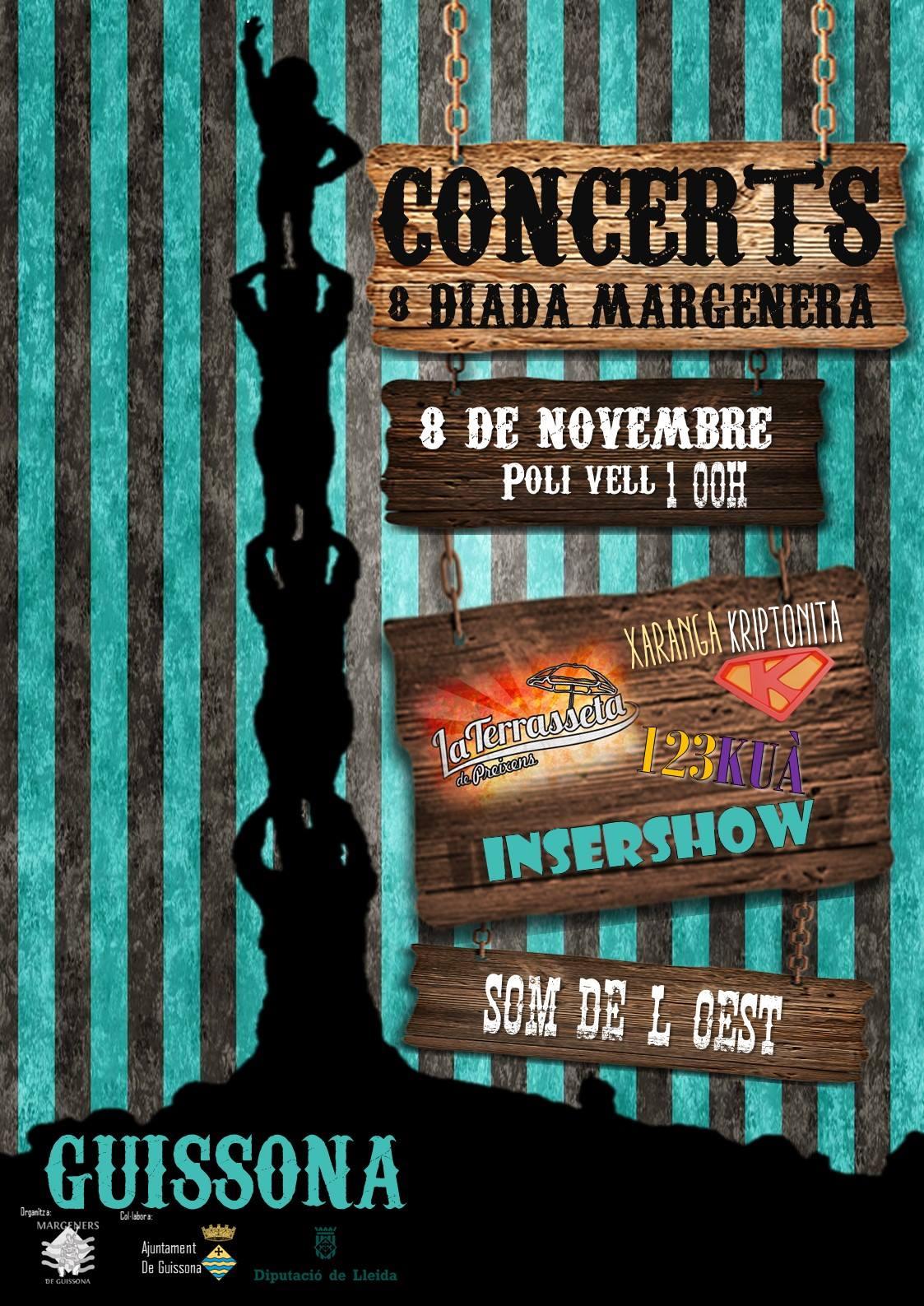 cartell Festa dels Margeners, concert