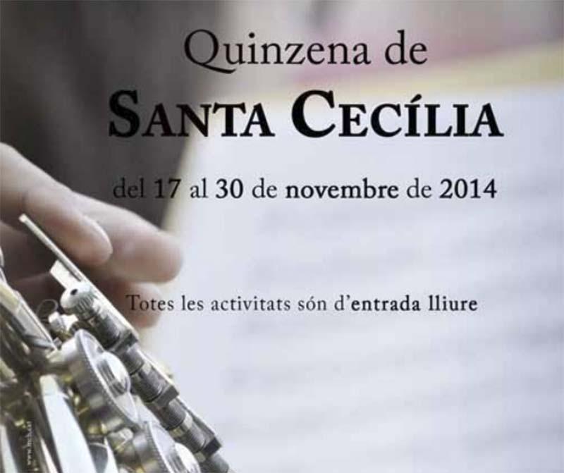 cartell Quinzena de Santa Cecília