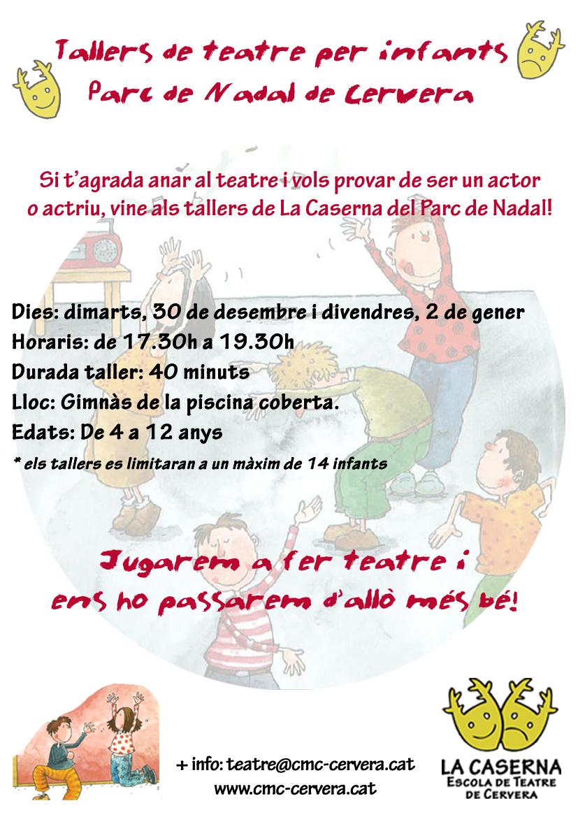 Tallers de teatre per a infants - Parc de Nadal