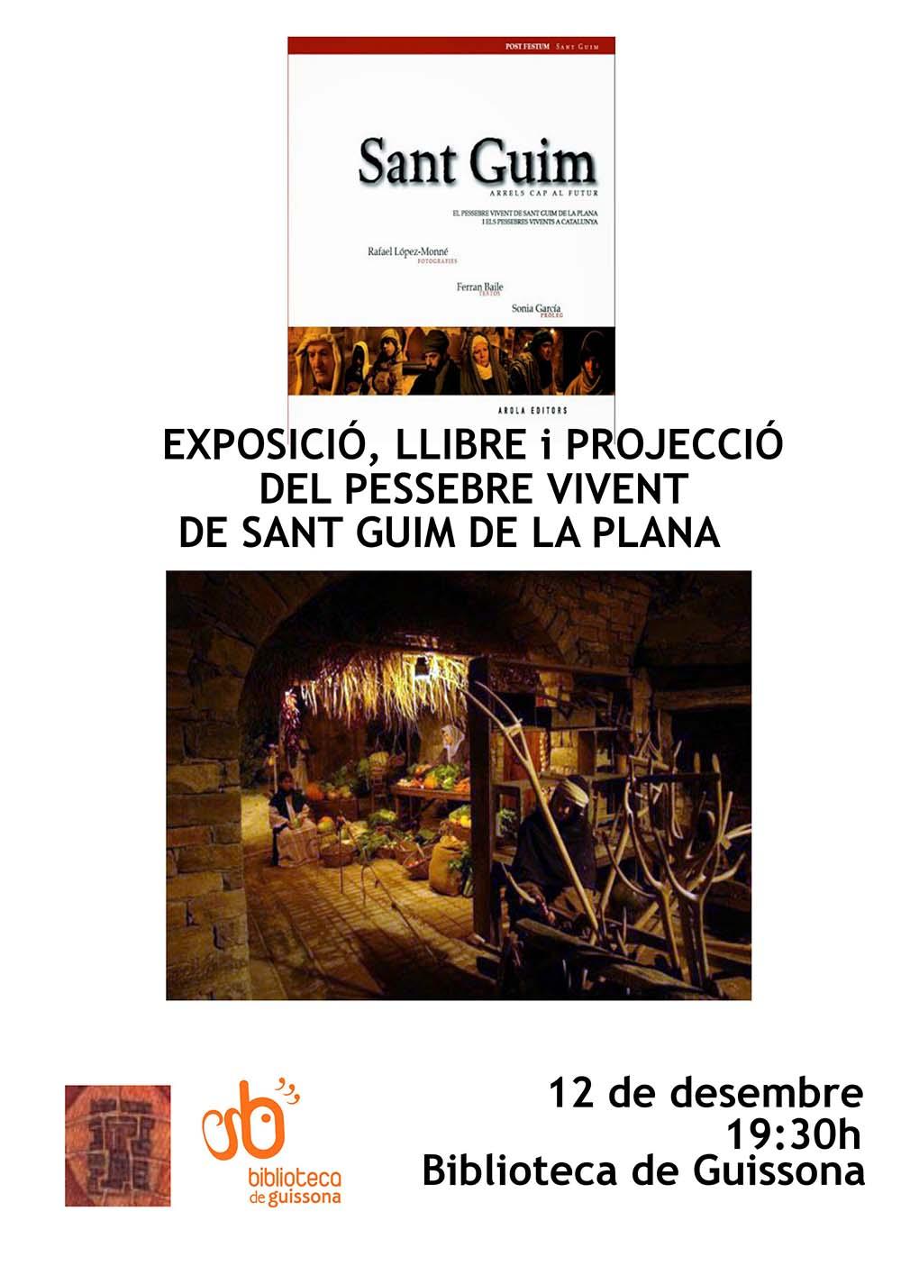 cartell exposició fotogràfica del Pessebre Vivent de Sant Guim de la Plana