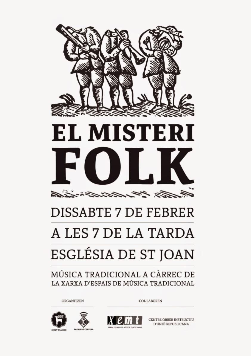 cartell Concert El Misteri Folk