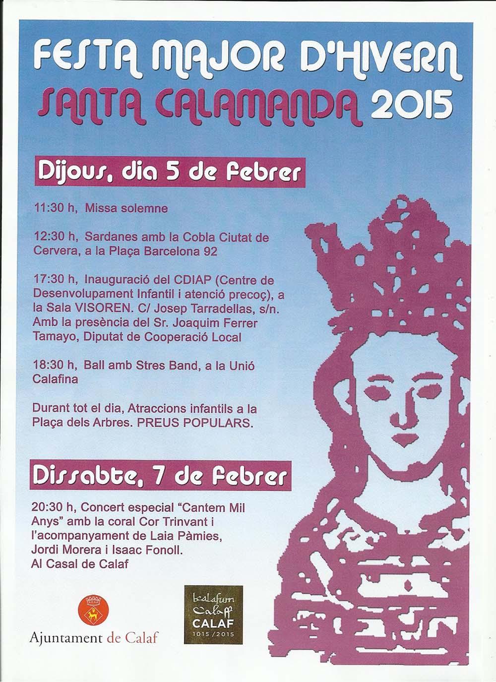 cartell Festa Major d'Hivern 2015