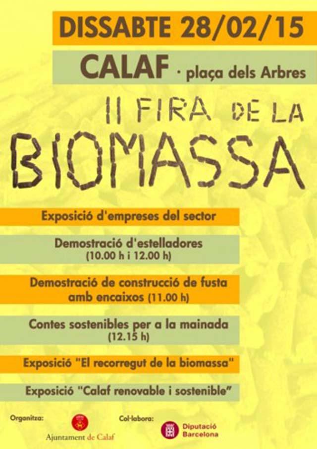 cartell II Fira de la Biomassa