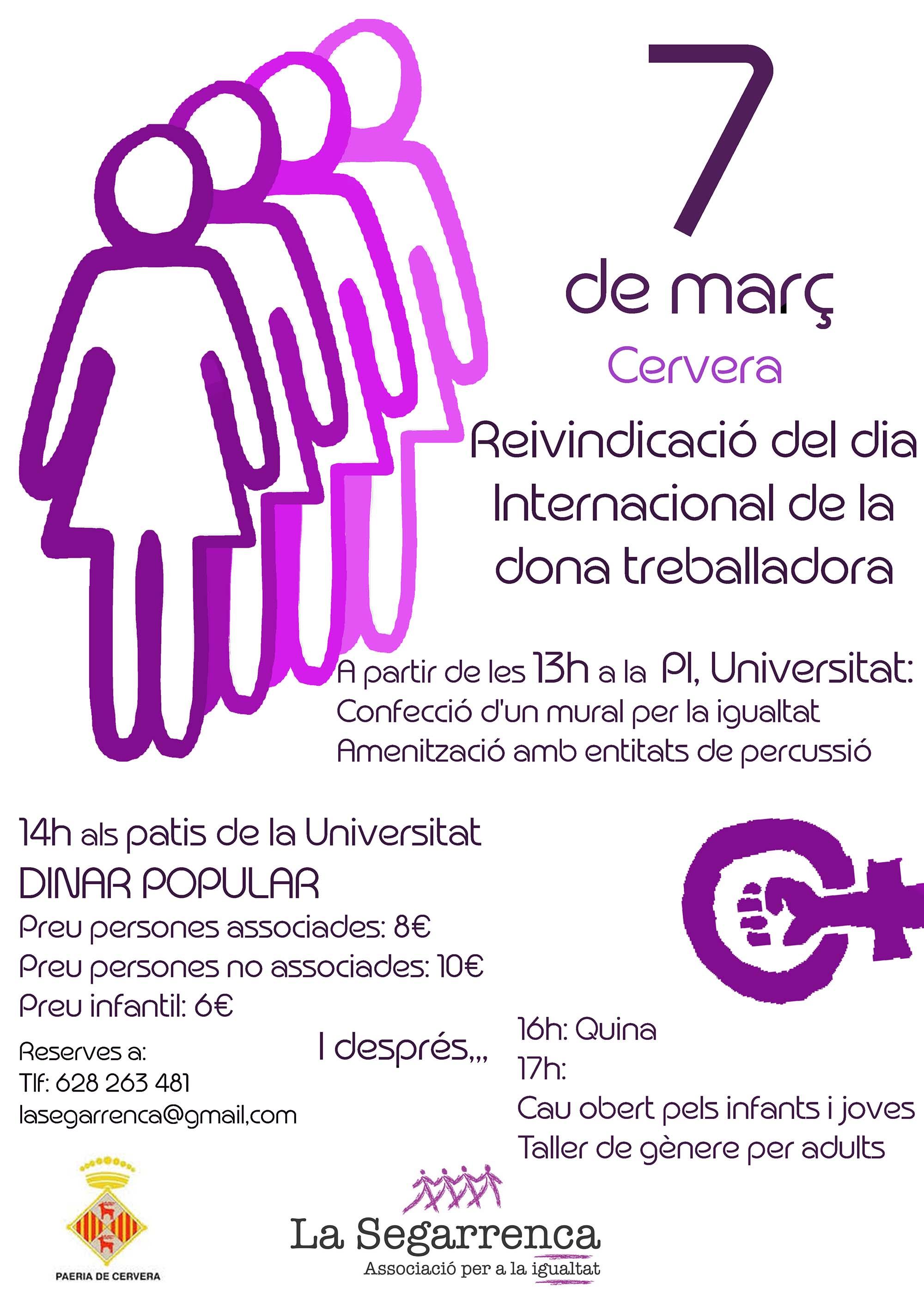 cartell 8M. Dia Internacional de les Dones Treballadores
