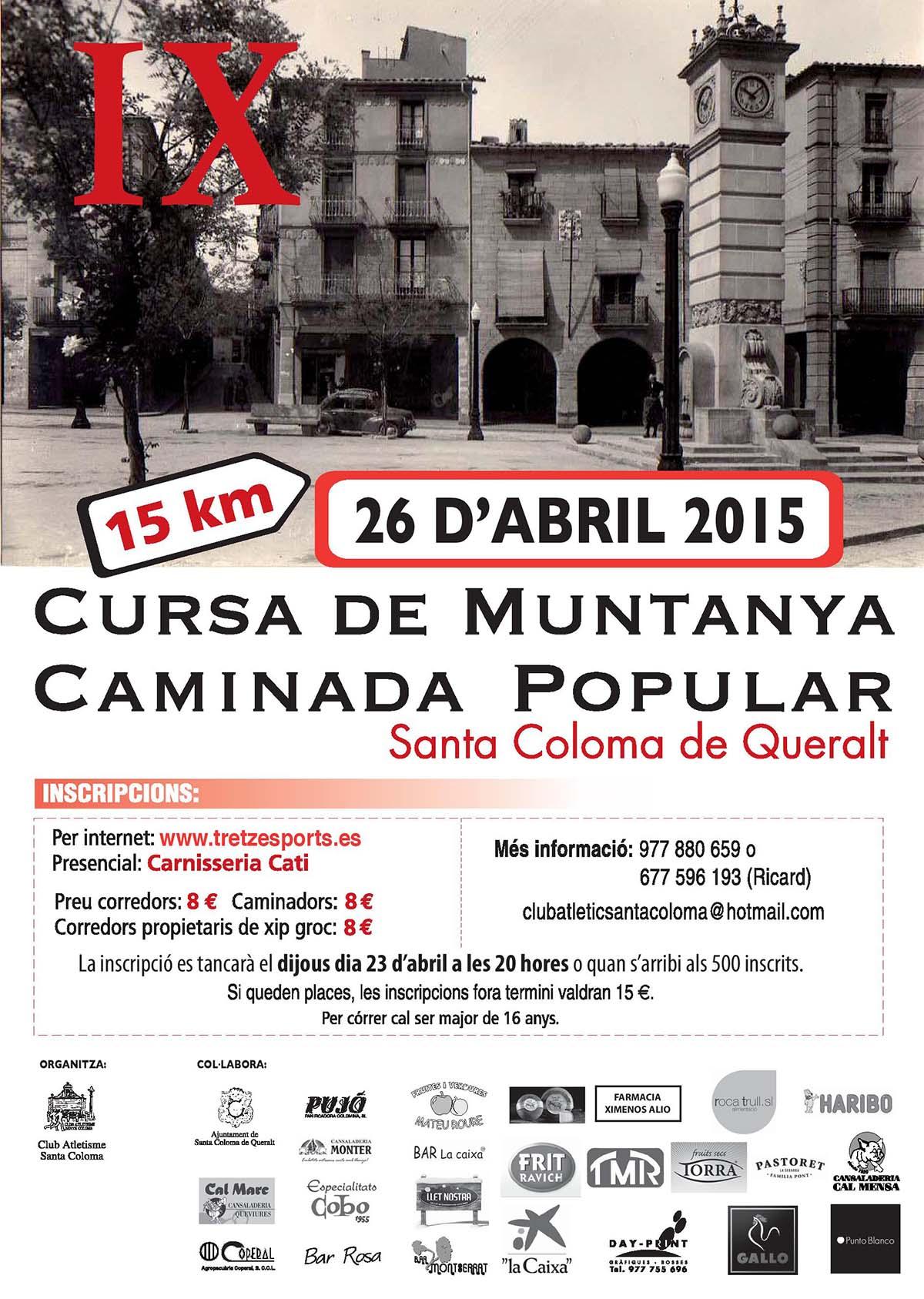 cartell IX cursa de muntanya i caminada popular