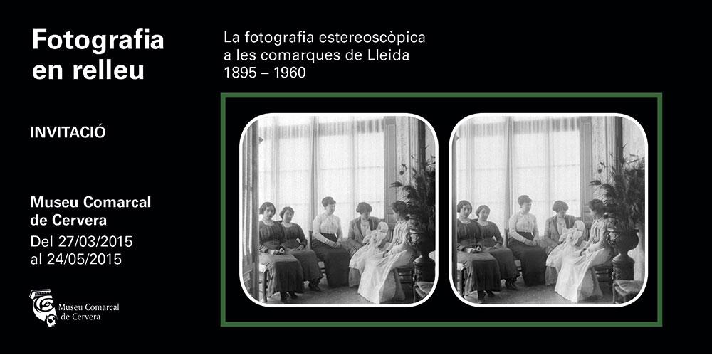 cartell La fotografia estereoscòpica a les comarques de Lleida 1895-1960