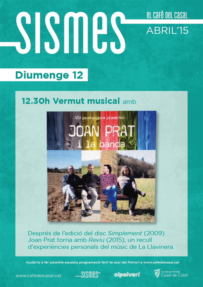 cartell Vermut musical amb Joan Prat i la Banda