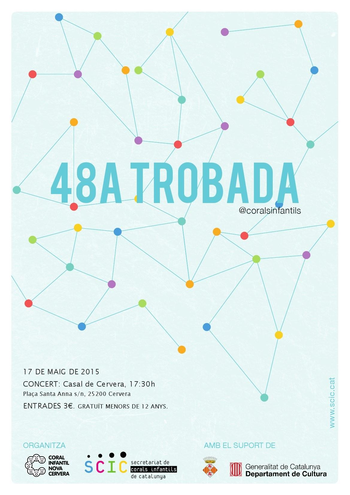 cartell Concert cloenda 48a Trobada-taller del Secretariat de Corals Infantils de Catalunya