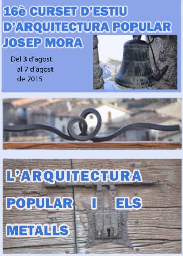 cartell 16è Curset d'Estiu d'Arquitectura Popular 'Josep Mora'