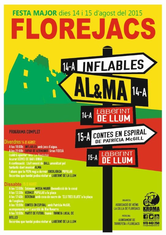 cartell Festa major Florejacs 2015