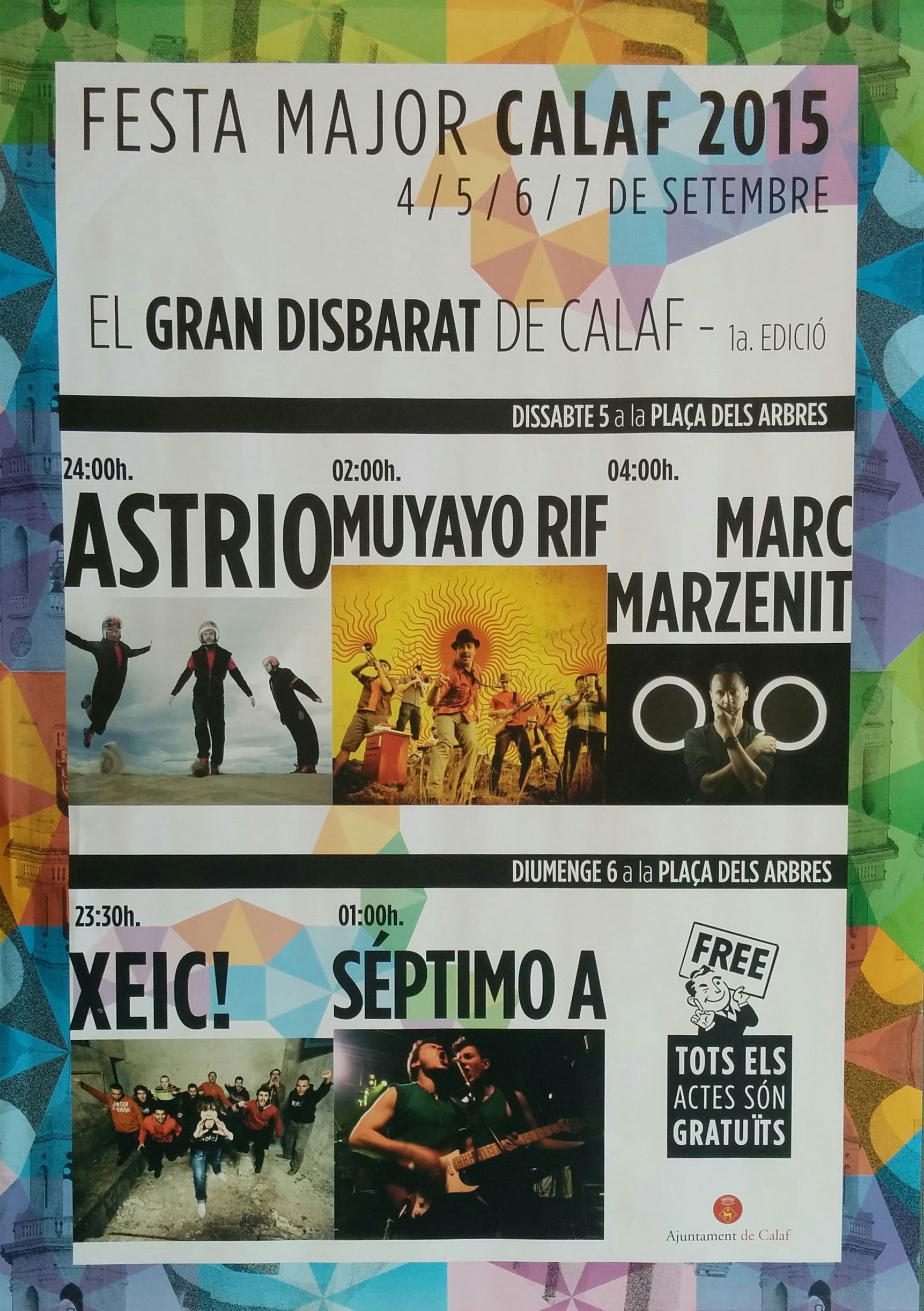 cartell Festa Major de Calaf 2015
