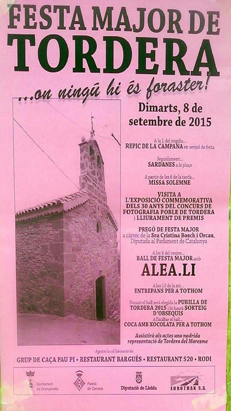 cartell Festa Major de Tordera 2015