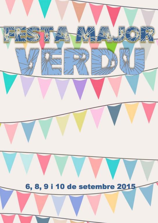 cartell Festa Major de Verdú 2015