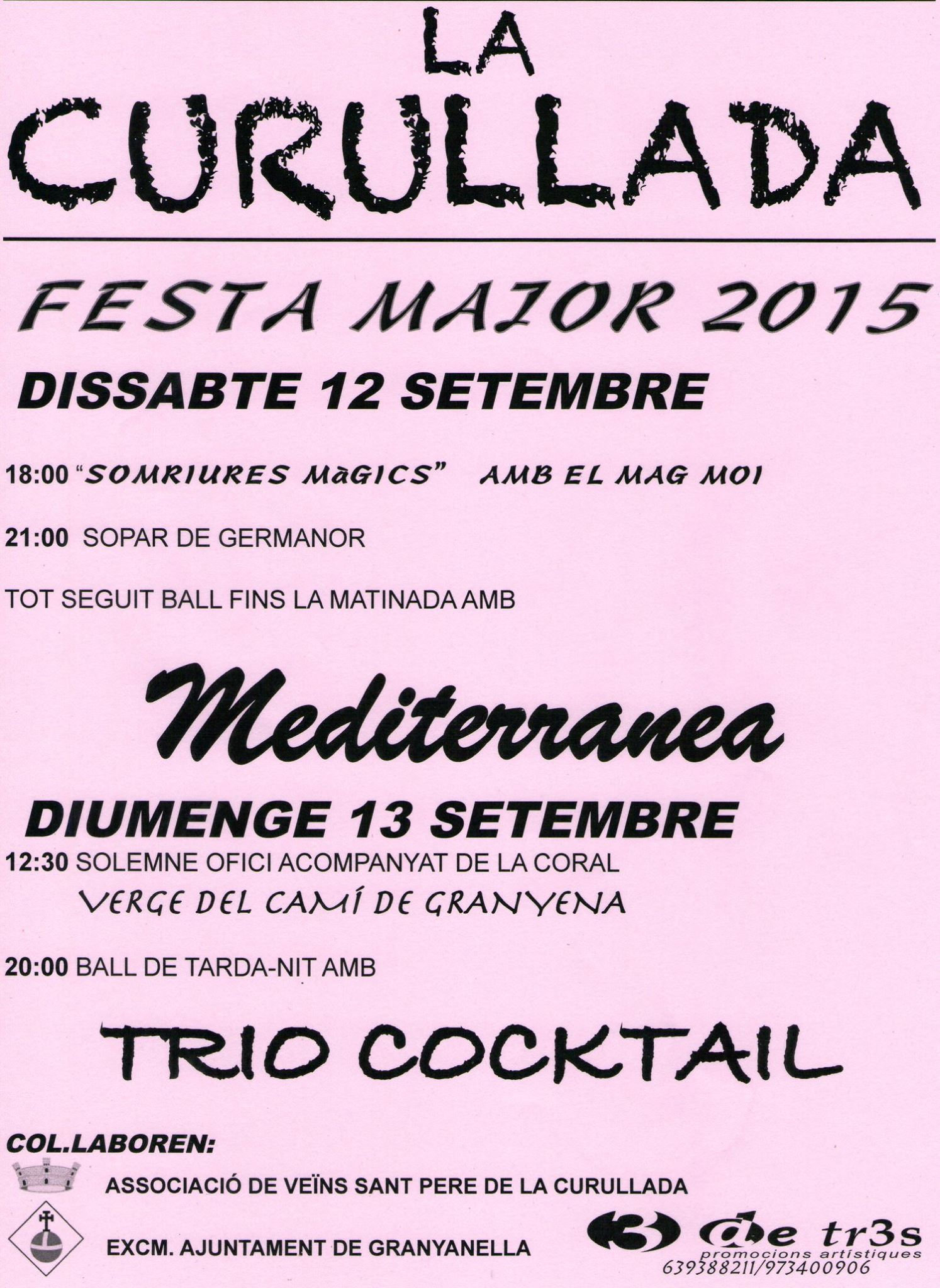 cartell Festa Major de La Curullada 2015