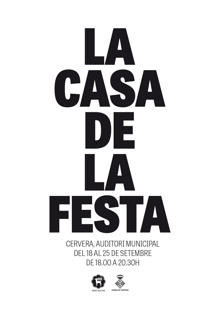 cartell Casa de la Festa Isagoge 2015