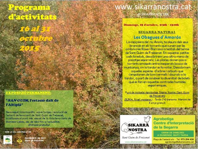 cartell SEGARRA NATURAL: Les Obagues d'Amorós