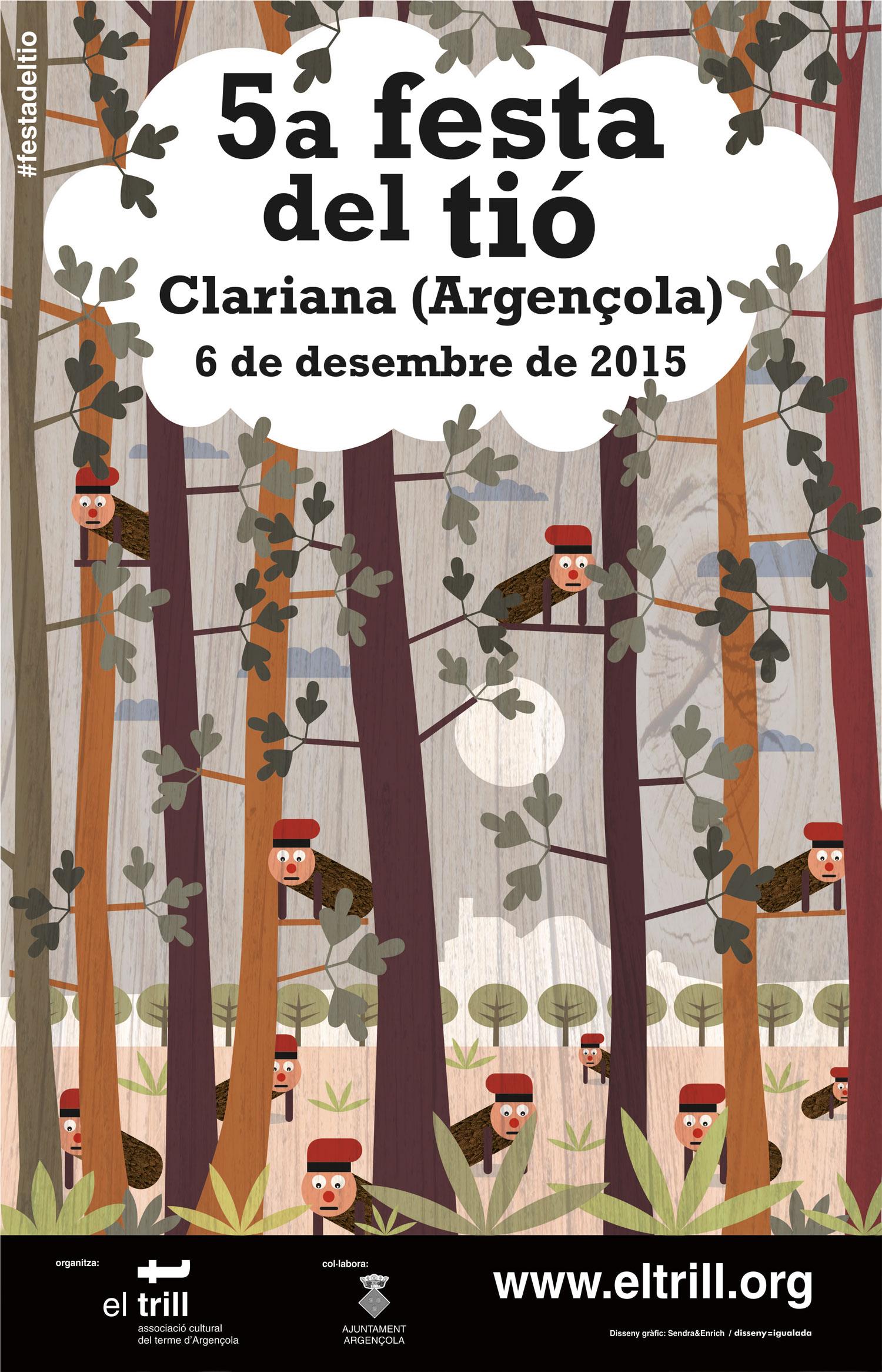 cartell 5a Festa del Tió – Clariana (Argençola)