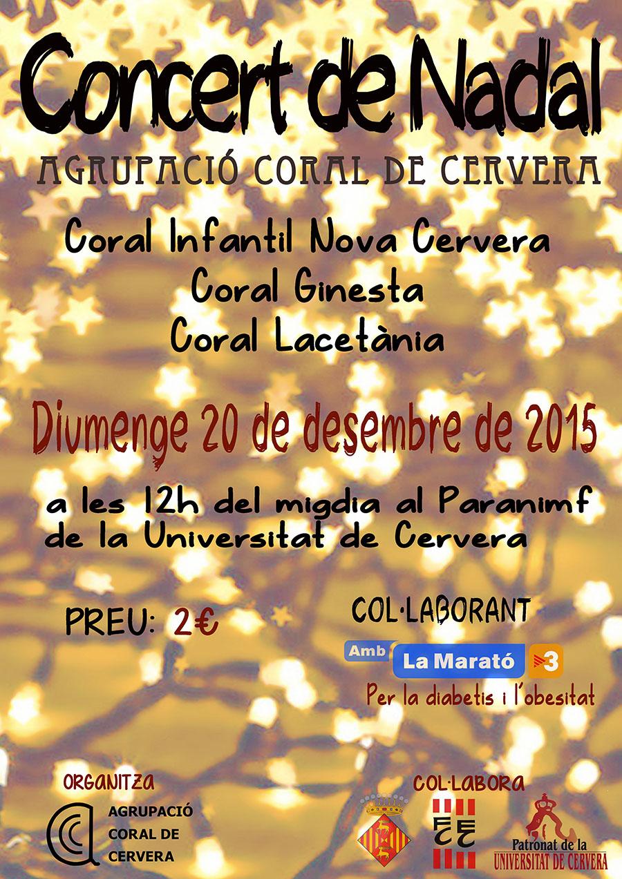 cartell Concert de Nadal de l'Agrupació Coral de Cervera