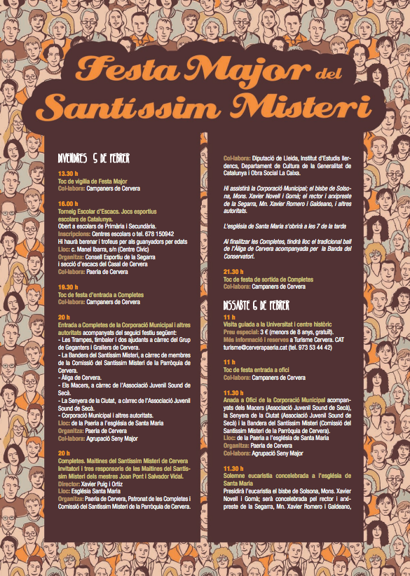 cartell Festa Major del Santíssim Misteri 2016