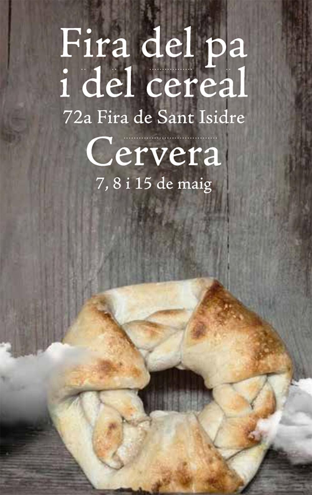 cartell Fira del Pa i el Cereal – 72a Fira de Sant Isidre de Cervera