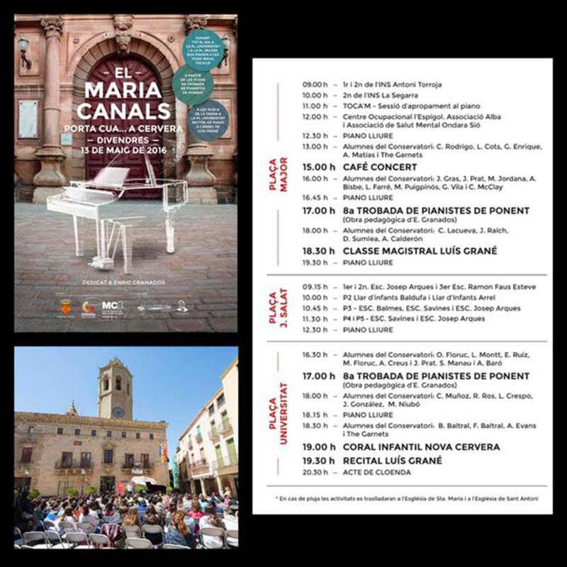 cartell Maria Canals porta cua.... a Cervera