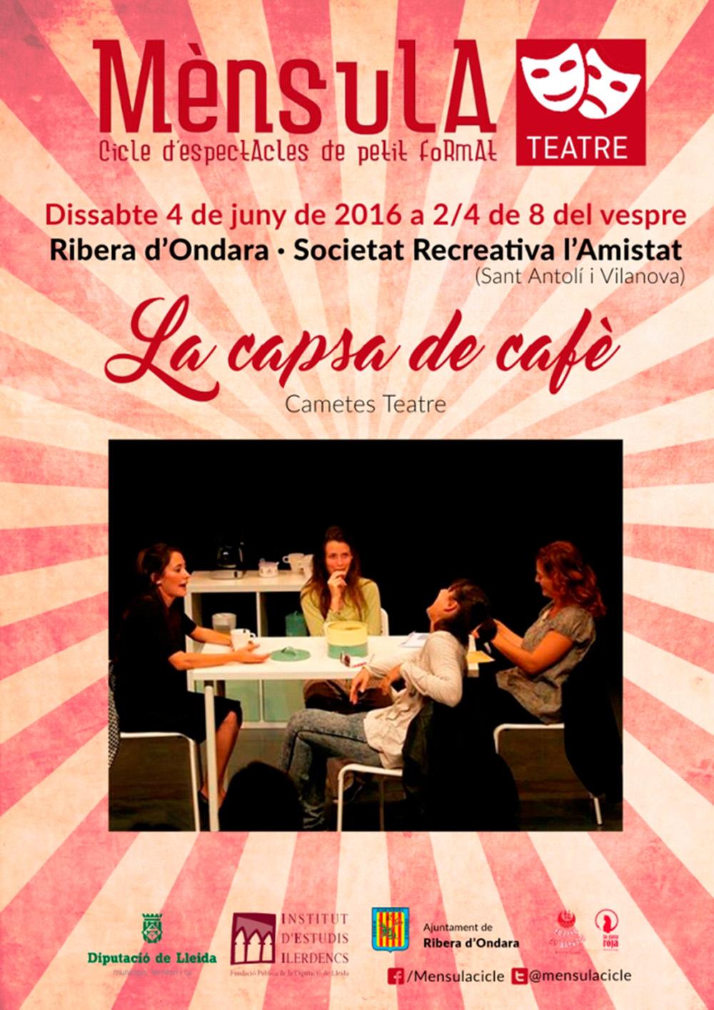 cartell Teatre 'La capsa de cafè'
