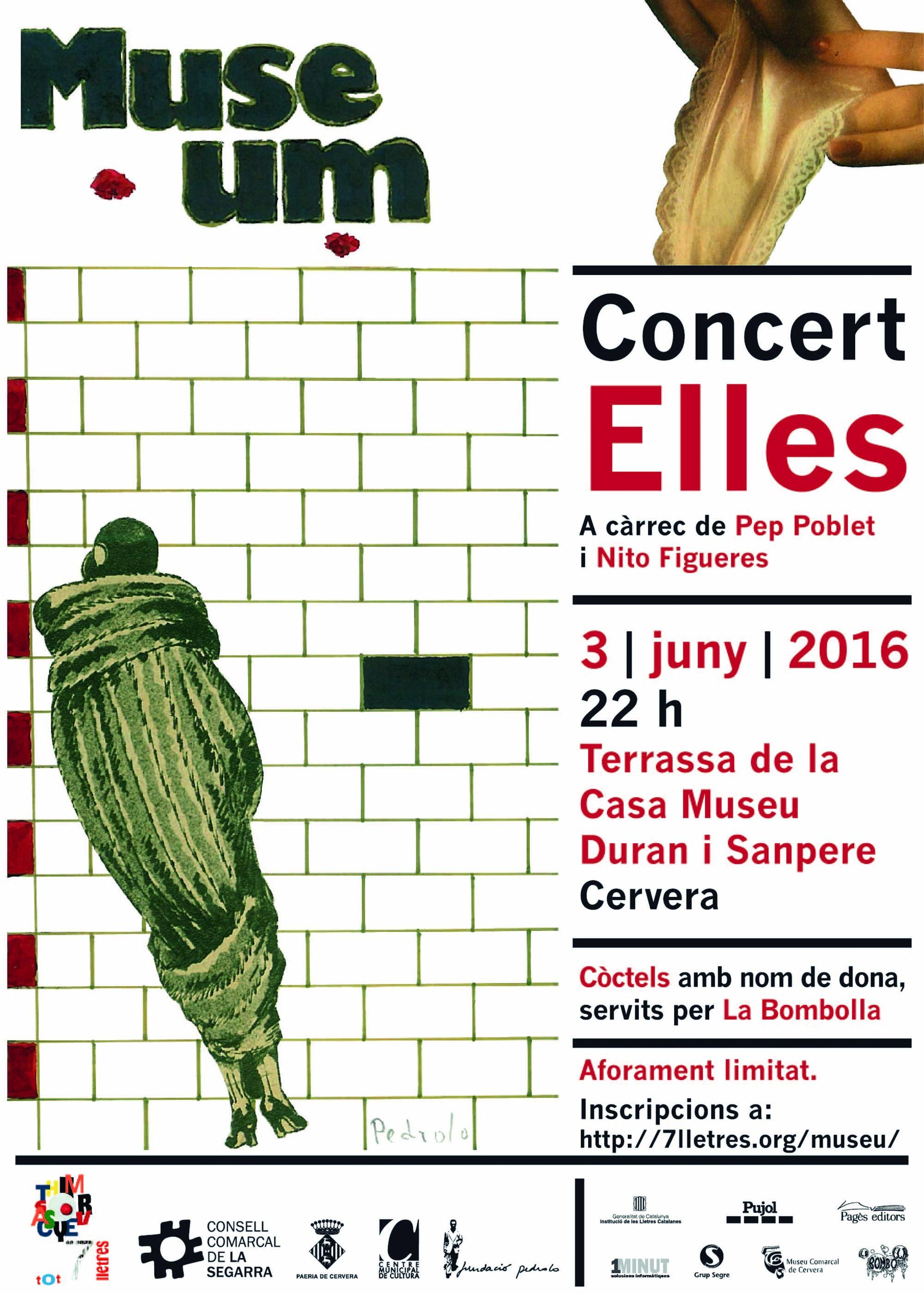 cartell Concert 'Elles'
