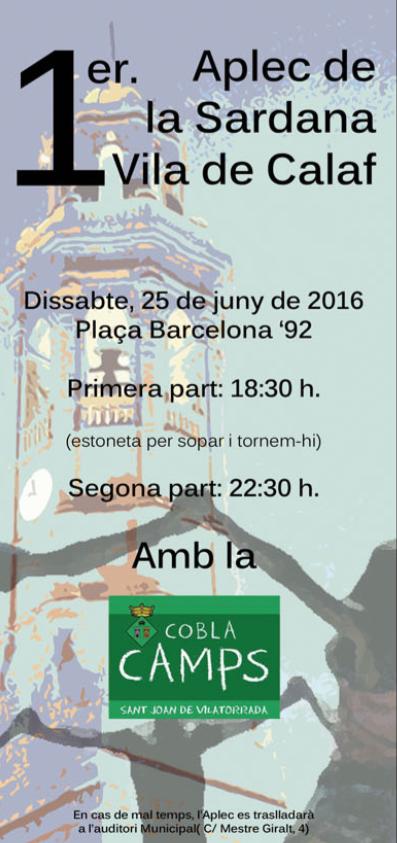 cartell 1r Aplec de la Sardana Vila de Calaf
