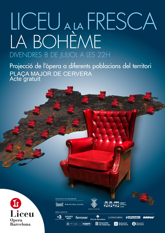 cartell LICEU A LA FRESCA - LA BOHÈME
