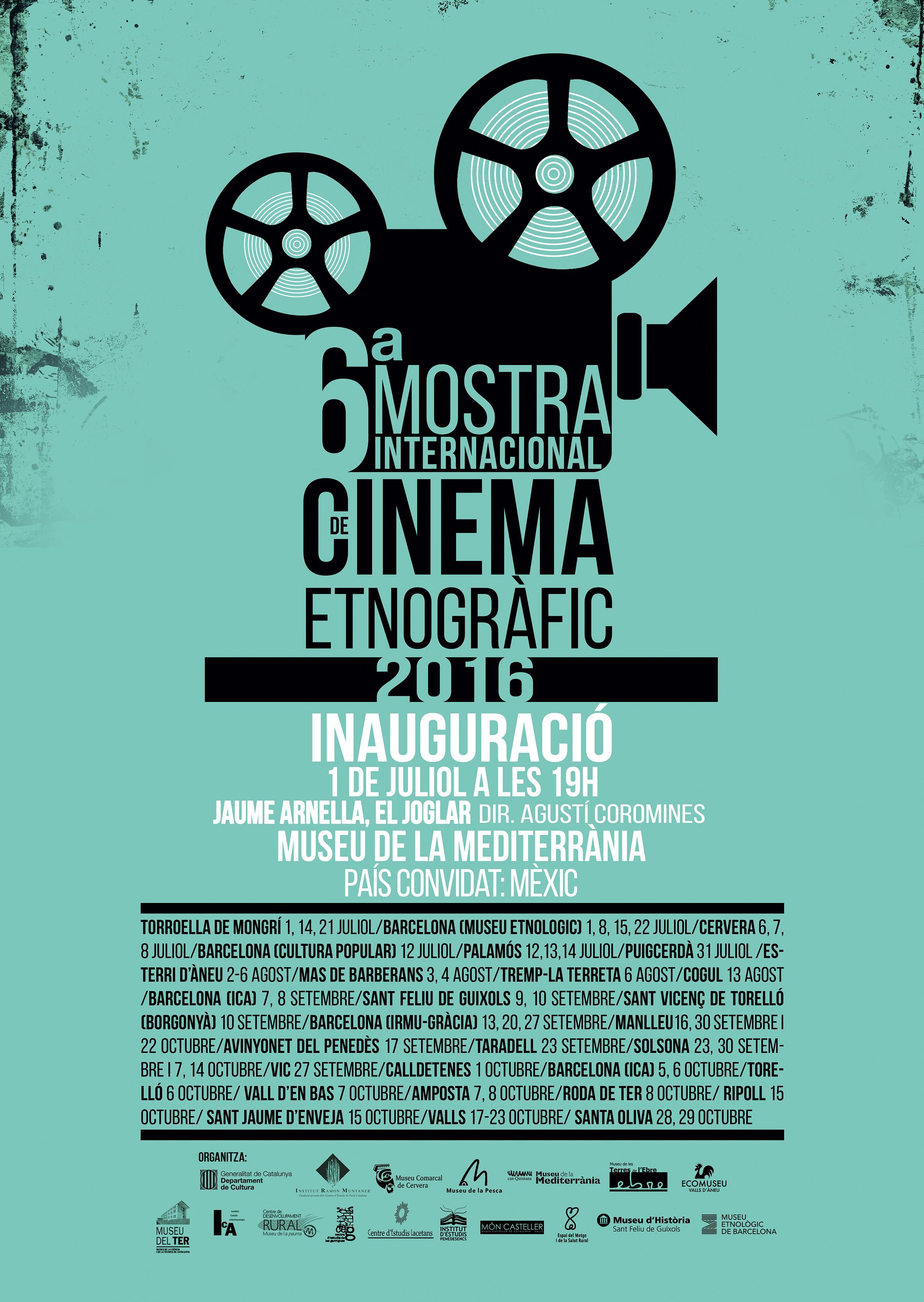 cartell 6a Mostra de Cinema Etnogràfic de Catalunya