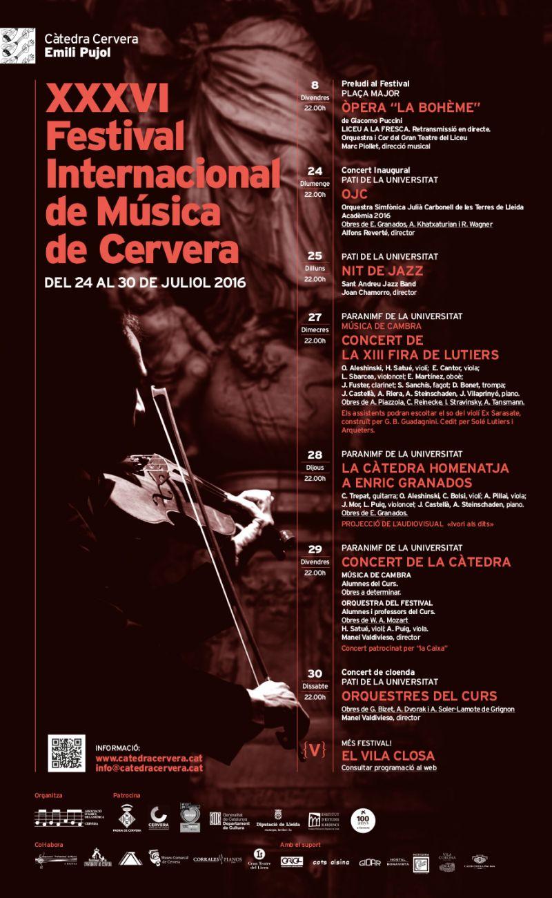 cartell XXXVI Festival Internacional de Música