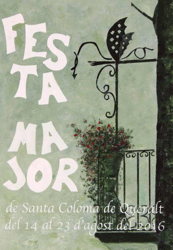 cartell Festa Major Santa Coloma de Queralt 2016