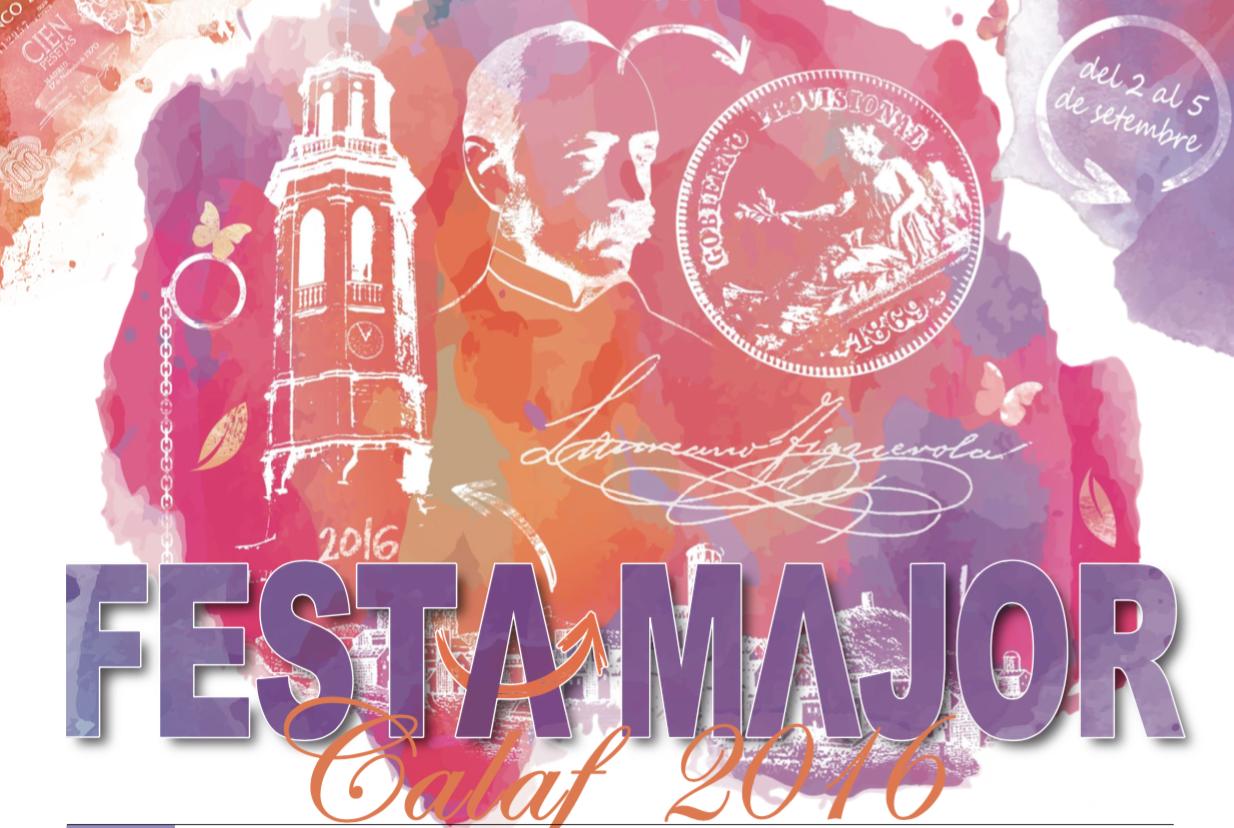 cartell Festa Major Calaf 2016