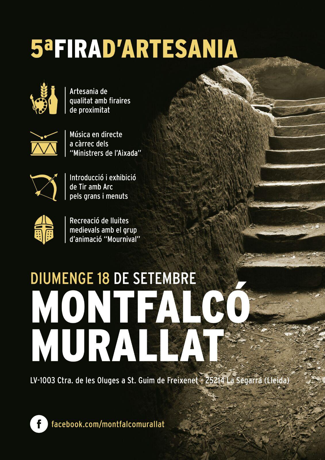 cartell 5a Fira d'Artesania de Montfalcó Murallat