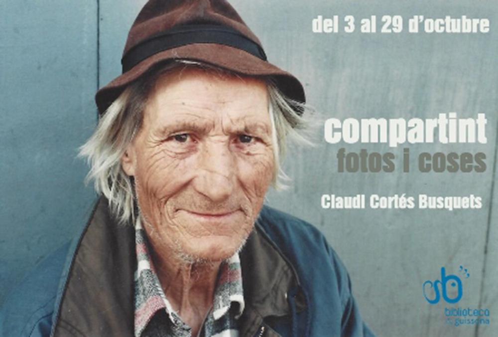 cartell Exposició 'Compartint: fotos i coses'
