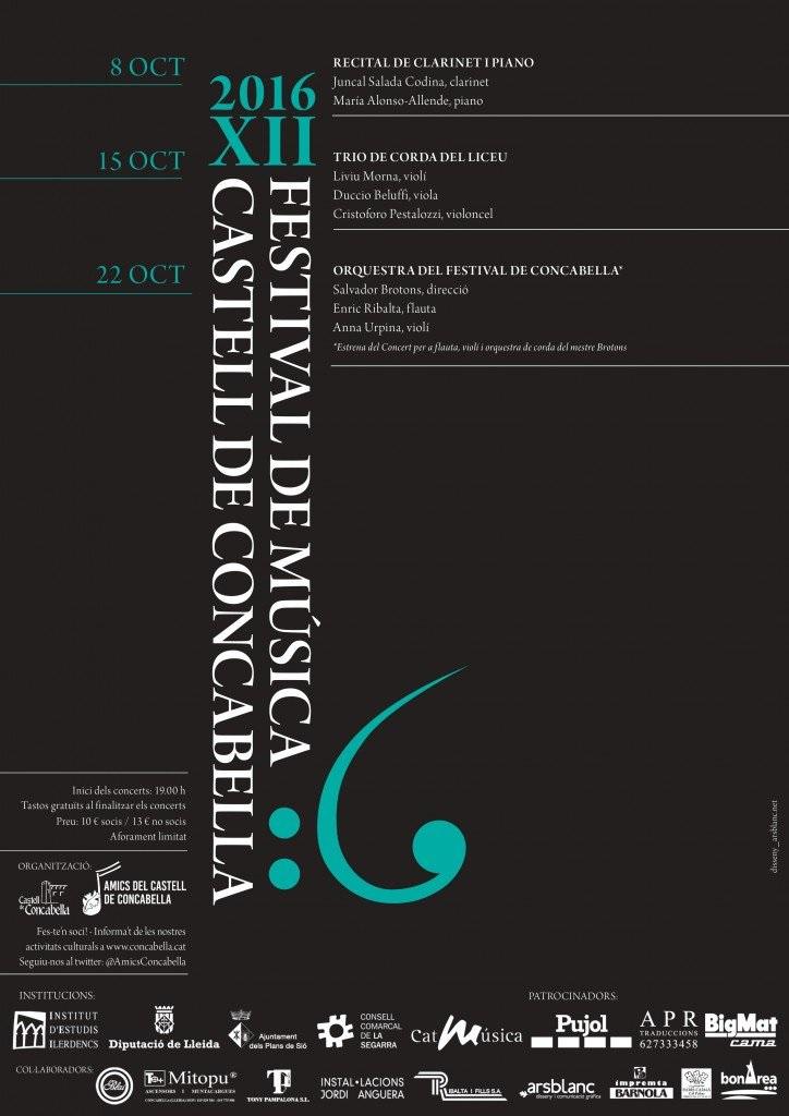 cartell 12è Festival de Música Castell de Concabella