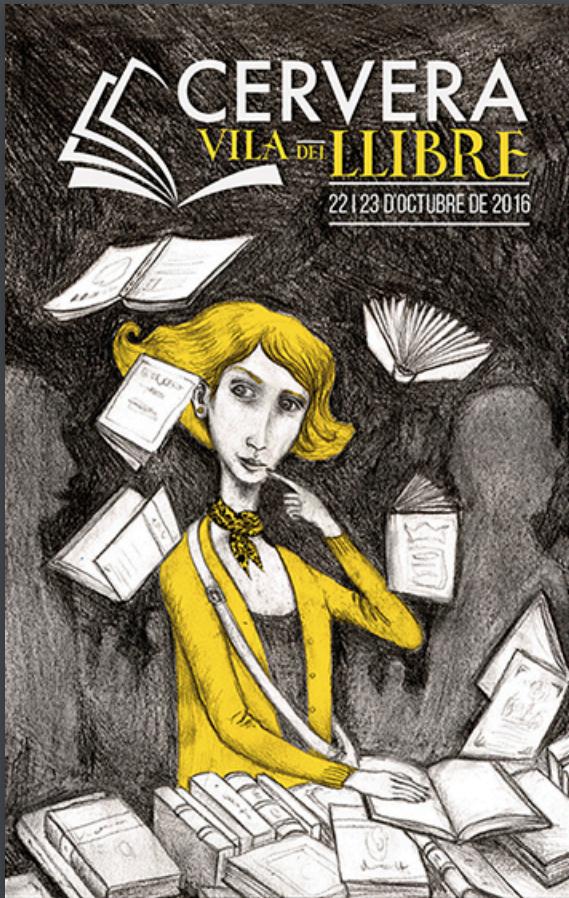 cartell Cervera Vila del Llibre