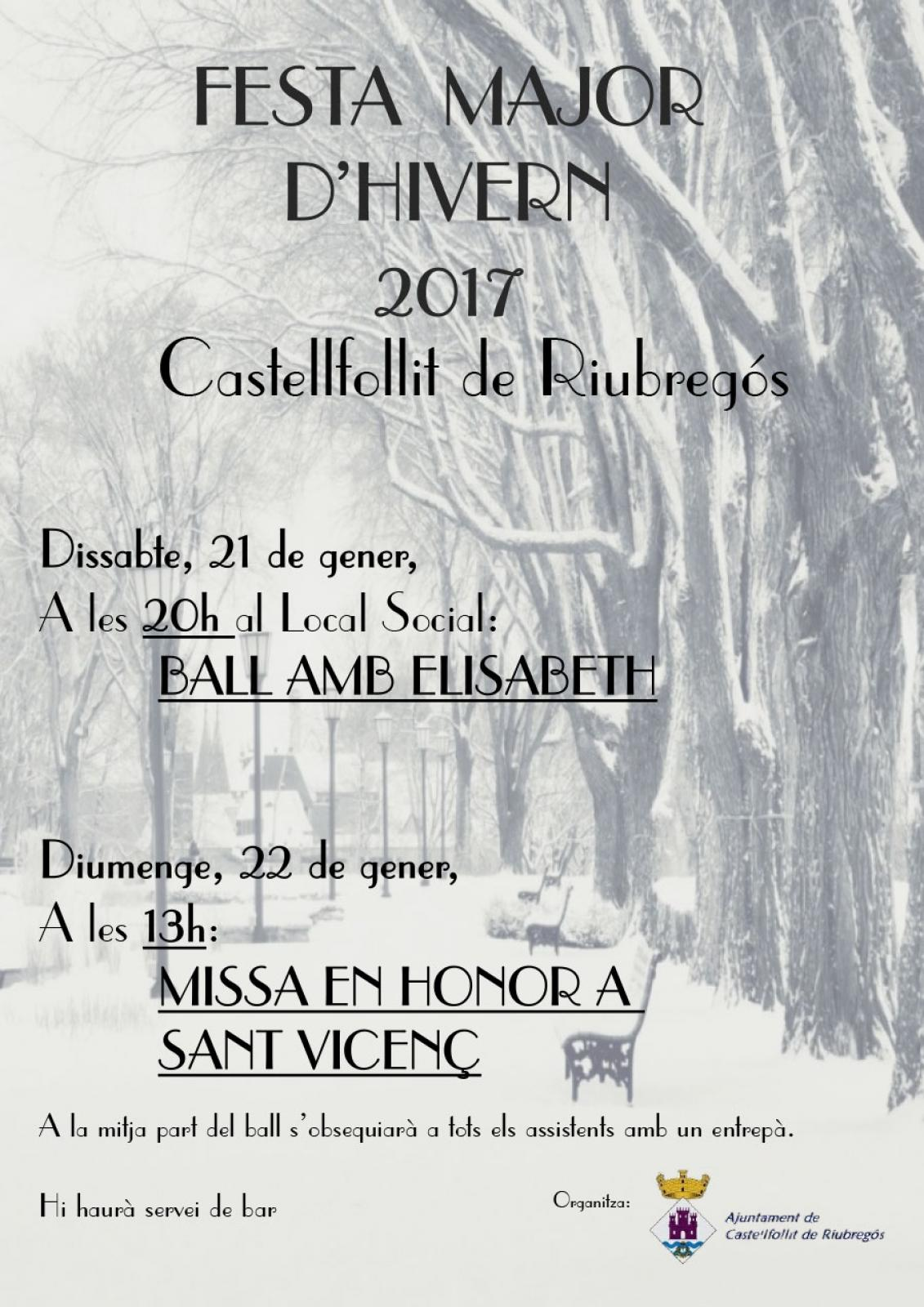 cartell Festa Major d'Hivern 2017