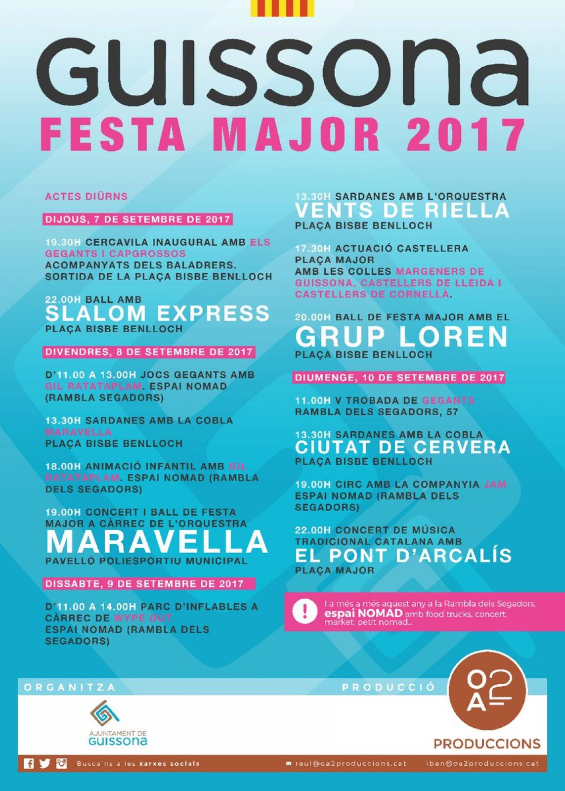 Festa Major de Guissona 2017