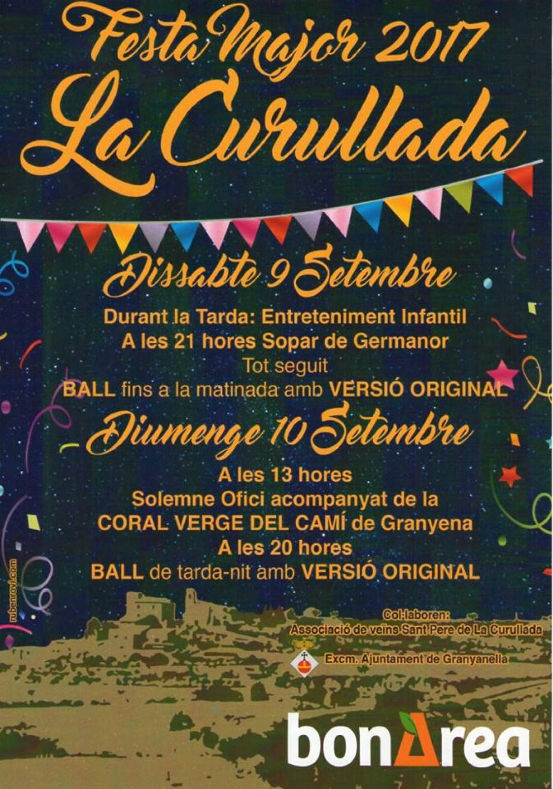 cartell Festa Major de La Curullada 2017