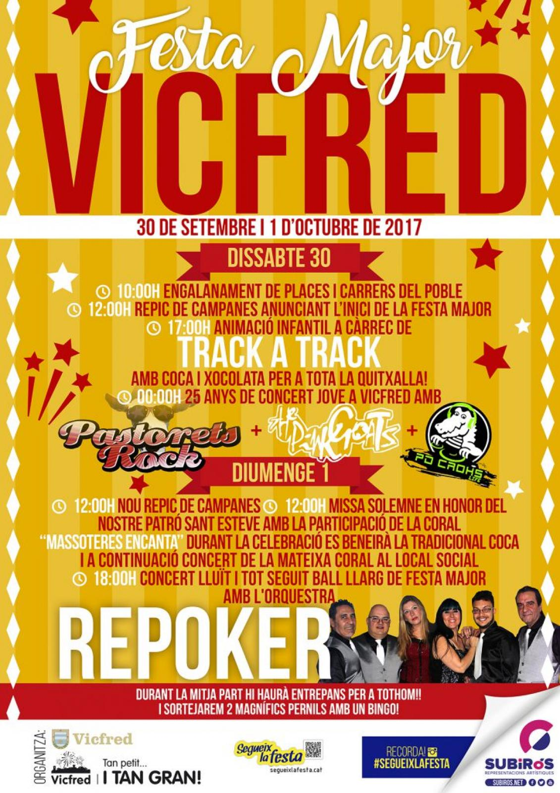 cartell Festa Major de Vicfred 2017