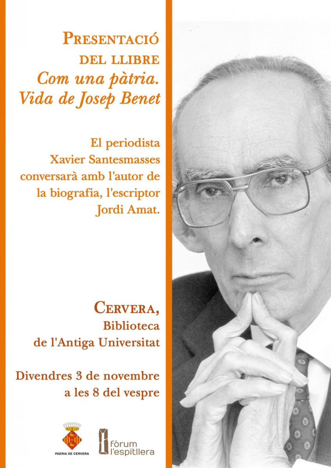 Presentació llibre 'Com una pàtria. Vida de Josep Benet'