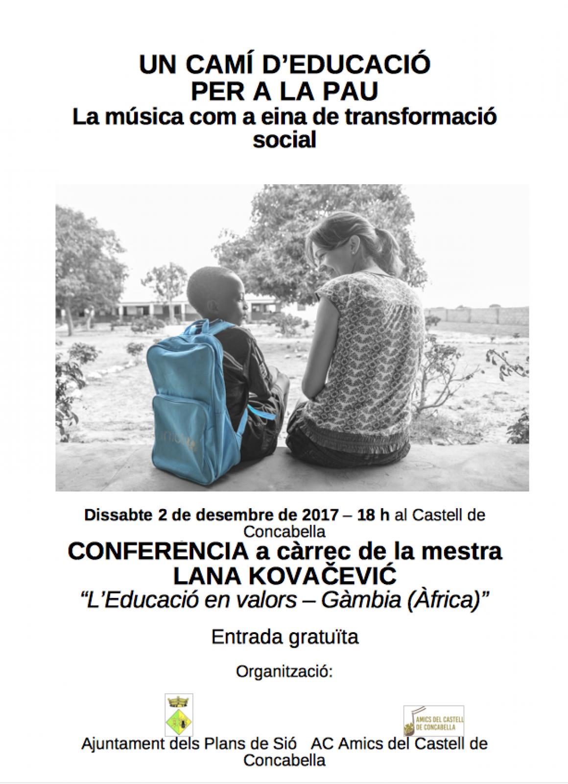 Un camí d'educació per a la pau. La música com a eina de transformació social
